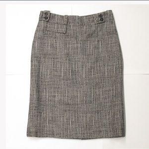 NWT auth CAROLINA HERRARA size 8 wool blend SKIRT